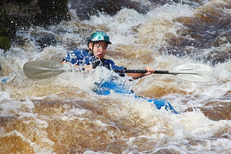 Running an 82-Foot Waterfall in a Tandem Whitewater Kayak