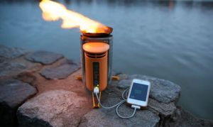 Camp Stove Generates Electricity from Twigs, Reduces Smoke